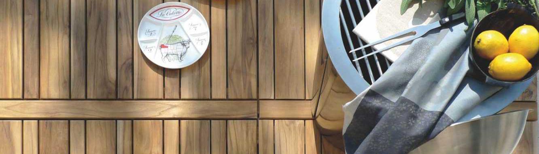 Mattonelle in legno da esterno
