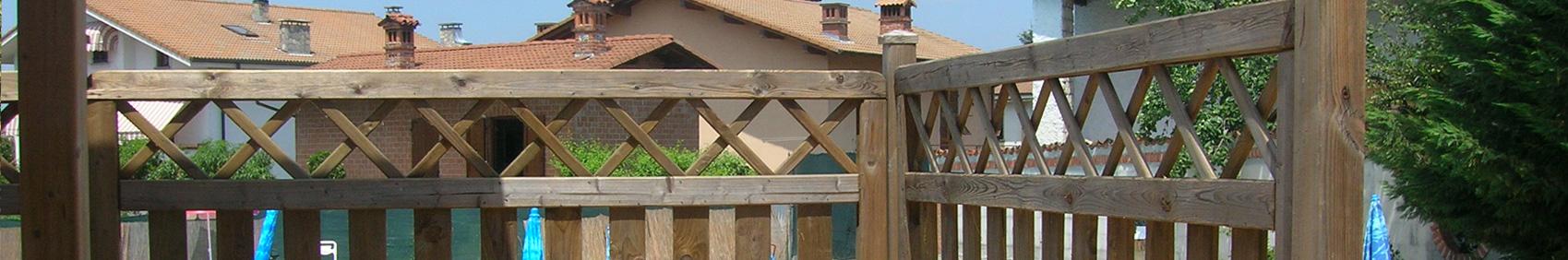 Steccati e recinzioni in legno fai da te onlywood - Palizzate in legno per giardino ...