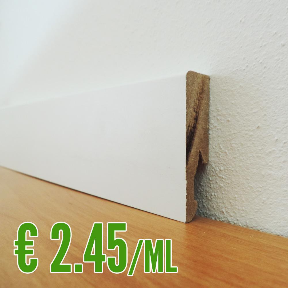 Battiscopa In Legno Bianco dettagli su battiscopa mdf bianco 14 x 60 mm. asta 2,40 metri