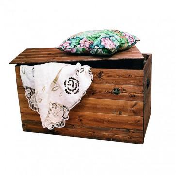 Cassapanca in legno trattato CARLOTTA 60 x 45 x 45 cm