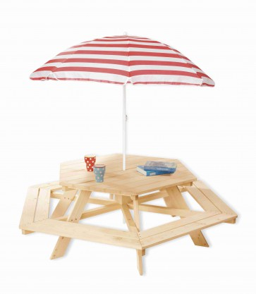 Tavolo per bambini NICKI esagonale by PINOLINO