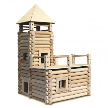 GIOCO COSTRUZIONE XL per bambini in legno CASE COMPONIBILI - 20 Composizioni diverse