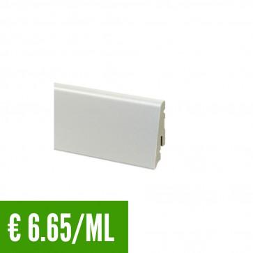 24 ML Battiscopa 100% IMPERMEABILE Bianco PVC 58 x 13,5 mm - CONFEZIONE RISPARMIO