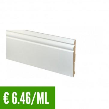 24 ML Battiscopa 100% IMPERMEABILE Bianco PVC 81,5 x 13,5 mm con passafili - CONFEZIONE RISPARMIO