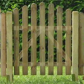 CANCELLETTO  in legno per steccato ROBUSTO  - 100 x 105/115 h. cm