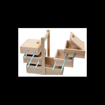 Cesto portacucito in legno cm. 34 x 20 x 28