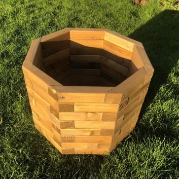 FIORIERA OTTOGONALE in legno di pino 50X50X40 h. cm