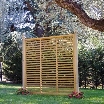 PANNELLO FRANGIVISTA SU MISURA in legno a listelli