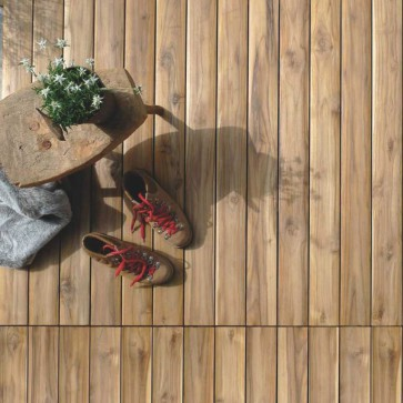 Pavimento da esterno MODULO FENCE in Teak