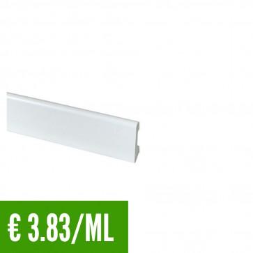 24 ML Battiscopa 100% IMPERMEABILE Bianco PVC 58 x 14,5 mm - CONFEZIONE RISPARMIO