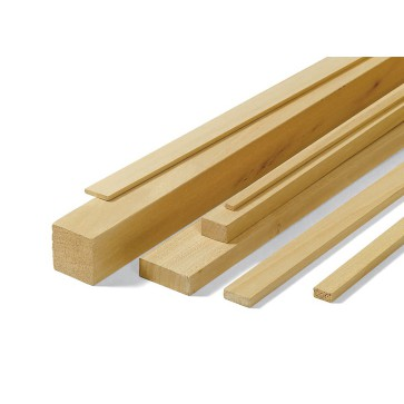 Listelli Piallati in legno Ayous SAMBA 5 X 20 X 1000 mm - Confezione 60 PEZZI