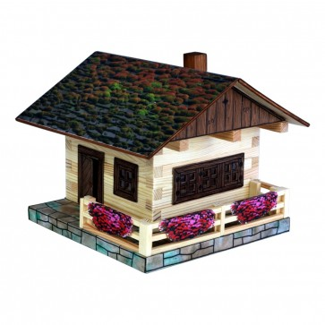 GIOCO COSTRUZIONE per bambini in legno Casa Alpina - 195 Pezzi
