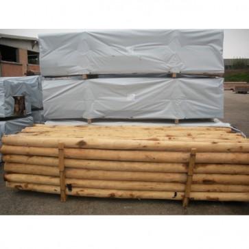 Pali scortecciati in legno CASTAGNO durata 25 anni - VENDITA A BANCALE