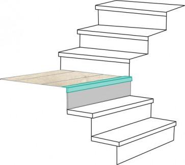 PIANEROTTOLO NEVADA rivestimento per scale in MDF - Fai da te facile e veloce
