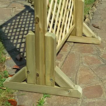 Piedistallo MAGIC EASEL in legno per grigliati-frangivista