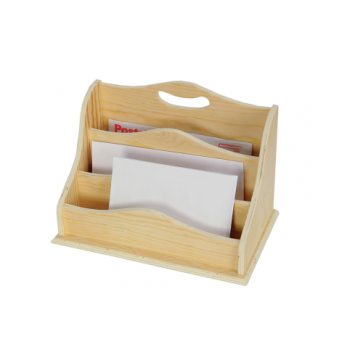Porta documenti in legno cm 29 x 17 x 20