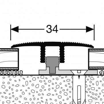 Profilo di RACCORDO per pari livello con finiture metallo