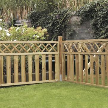 Onlywood Steccato NAIROBI in legno impregnato 180 x 90 h. cm
