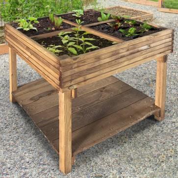 Orto in legno di pino impregnato 80 x 80 x 80 h. cm - 4 Vani