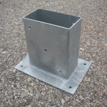 Staffa fissaggio su cemento per palo 14 x 9