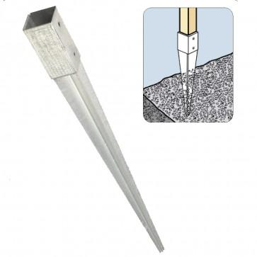 Staffa fissaggio su terra per palo 9 x 9