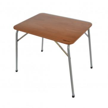 TAVOLO DA CAMPEGGIO pieghevole in legno di OKumè cm 80x60 con piedino regolabile