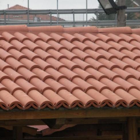 Coppi pvc rossi per copertura da esterno confezione 1 40 mq onlywood - Coperture x esterni ...