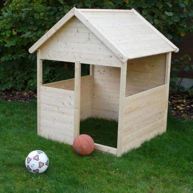 Casetta in legno per bambini bimbi 120 x 120 cm onlywood for Casetta in legno prezzo