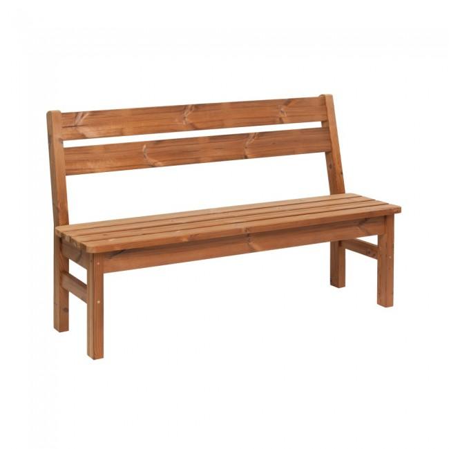 Panca da giardino in legno thermowood 145 x 40 x 45 cm for Panche in legno da giardino
