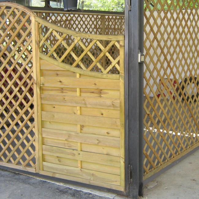 Grigliati in legno per recinzioni:prezzi e dettagli