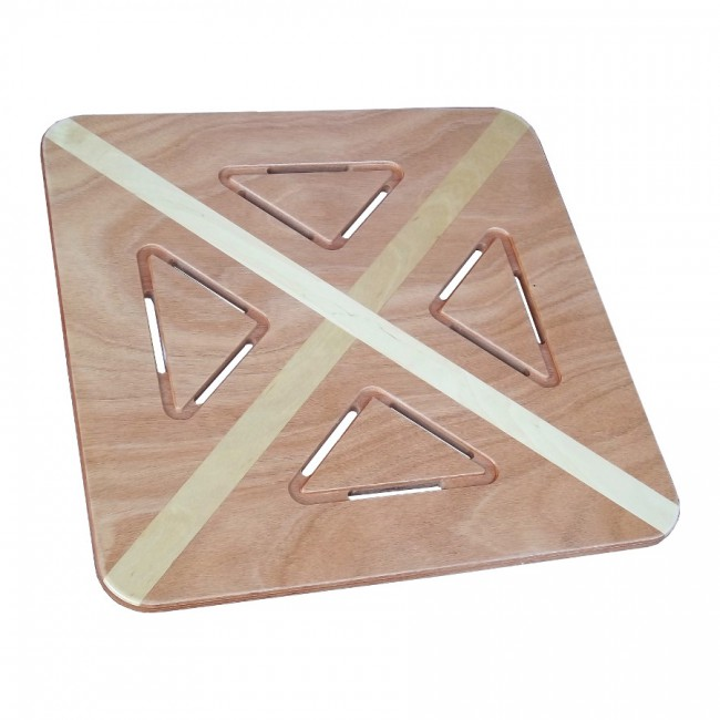 Pedana doccia legno marino okumè intarsiato betulla cm 60 x 60 per piatti 80 x 80 - Onlywood