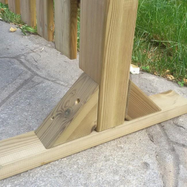 Piedistallo magic easel in legno per steccati onlywood - Legno per terrazzo ...
