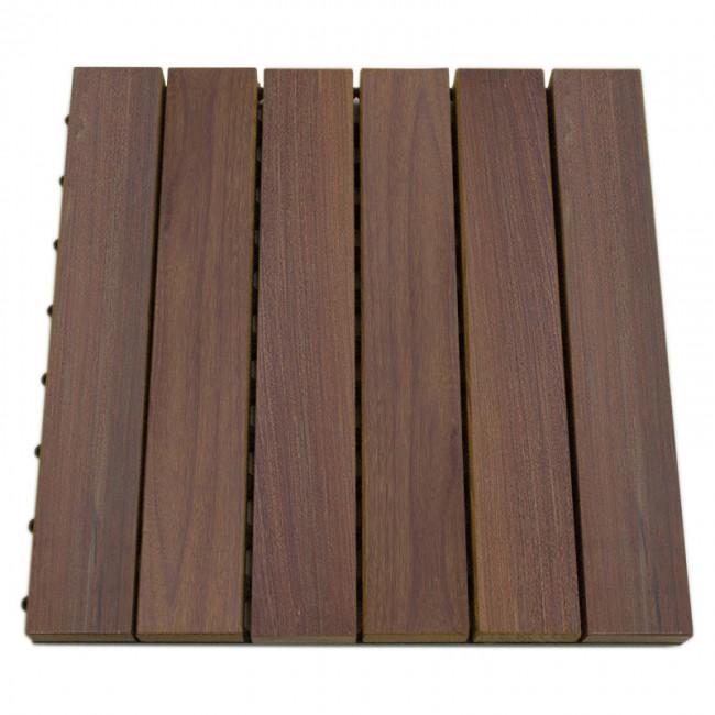 Pavimento frassino liscio da esterno quadrotta 30 x 30 x - Piastrelle in legno da esterno ...