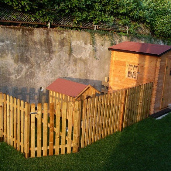 Steccato alto preassemblato 180 cm x altezza 120 onlywood for Recinzioni in legno brico