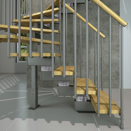 Scala interna tech in kit di montaggio onlywood - Larghezza scala interna ...