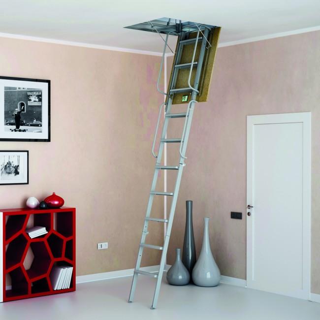 scala retrattile 4pz rigida per soffitta onlywood