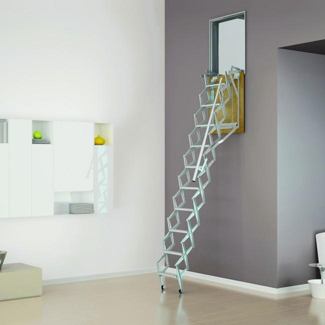 Scala retrattile wall per parete onlywood - Parete in legno fai da te ...