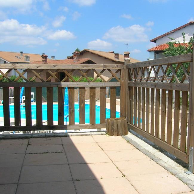 Steccato STISA modulo 180 cm. x altezza 90 - Onlywood