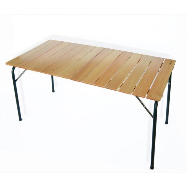 Tavolo Da Campeggio Richiudibile.Tavolo Da Campeggio Pieghevole In Larice Cm 140x70 Cm Onlywood