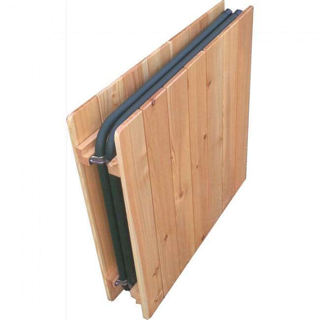Tavolo pieghevole in larice 140 x 70 cm onlywood for Offerte tavoli richiudibili