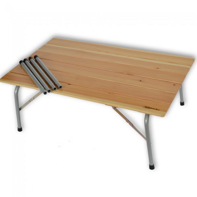 Tavolo pieghevole in larice 2 altezze 100 x 60 cm con for Tavolo cucina 60 x 100
