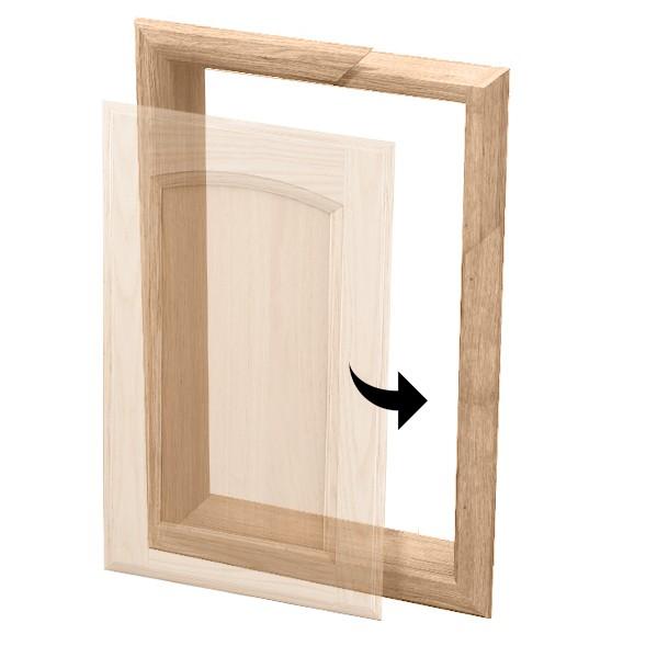 Cornice telaio muratura per antine onlywood for Sportelli legno per cucina muratura