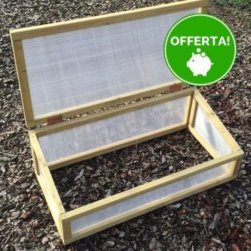 Serra 80 x 60 x 30 h. cm in legno e policarbonato