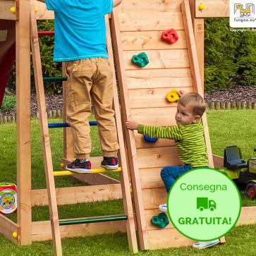 Parete da arrampicata Fongoo Step on in legno Abete 42 x 60 x h 185 cm - Accessorio Parco giochi