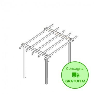 Pergola  BASIC autoportante 300x300 legno classe 4 - portata 50 Kg - ANCHE SU MISURA