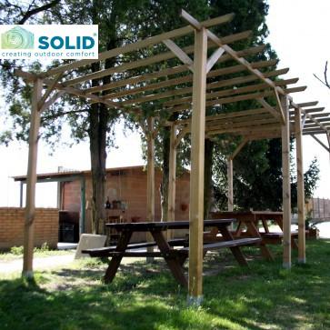 Pergola BRICO autoportante legno impregnato cm. 300 x 300