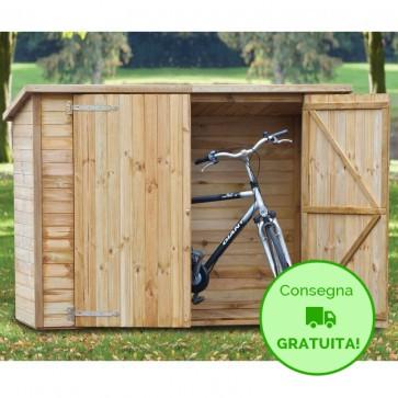 Casetta ripostiglio legno IMPREGNATO 200 X 90 x 161 h. cm ARMADIONE 161 CON pavimento