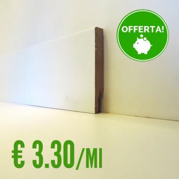 BATTISCOPA BIANCO MDF  liscio 14 x 100 mm. asta 2,40 metri