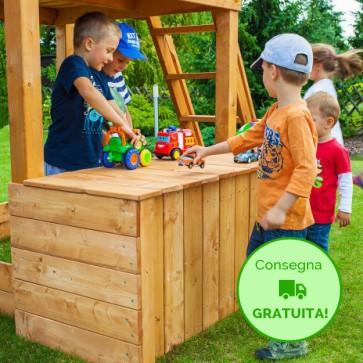 Fungoo Toybox in legno Abete 100 x 60 x h 62 cm - Accessorio Parco Giochi