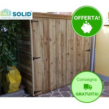 Casetta ripostiglio legno IMPREGNATO 183 X 90 x 180 h. cm ARMADIONE 180 CON pavimento
